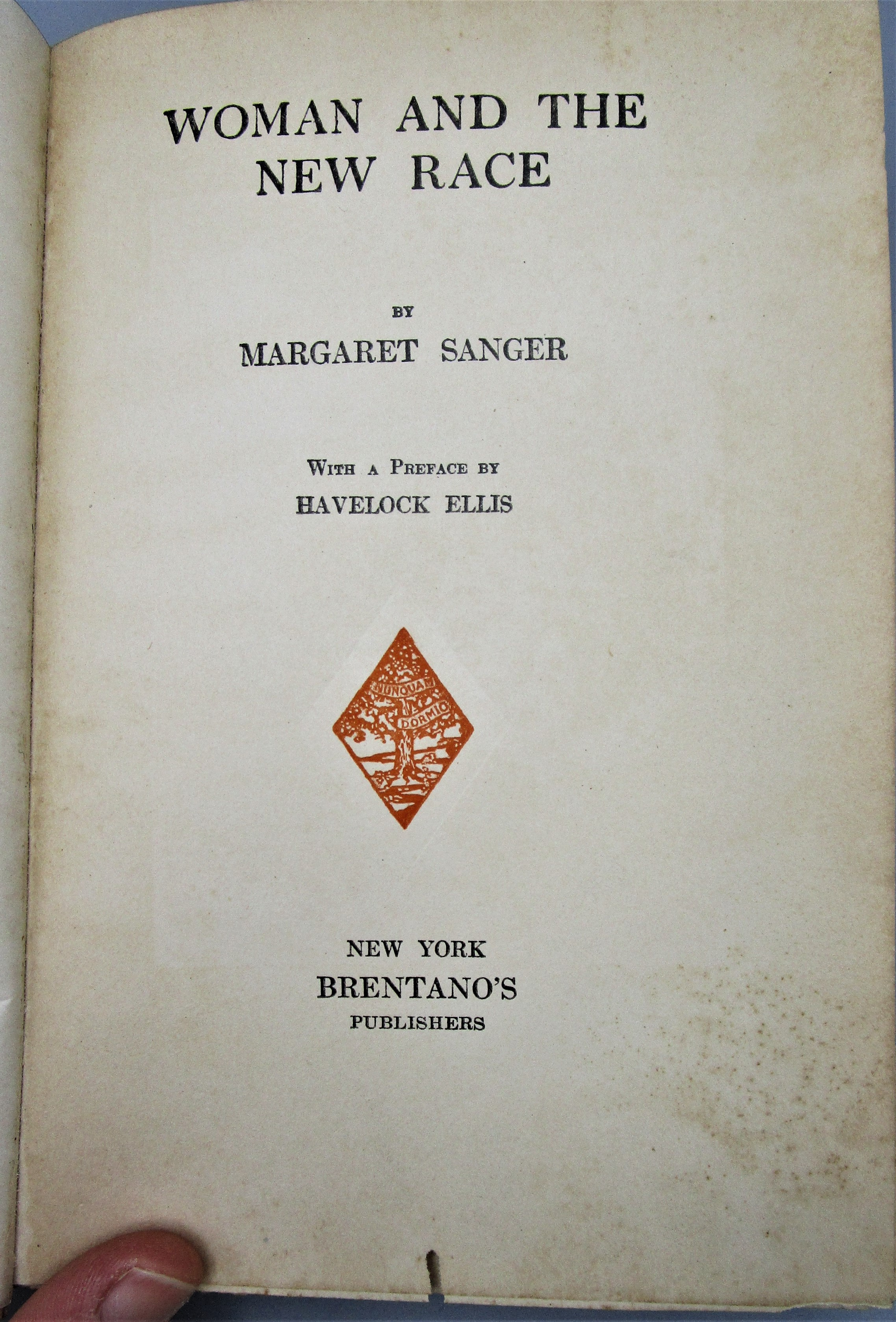 WOMAN AND THE NEW RACE, by Margaret Sanger - 1920 [1st Ed]