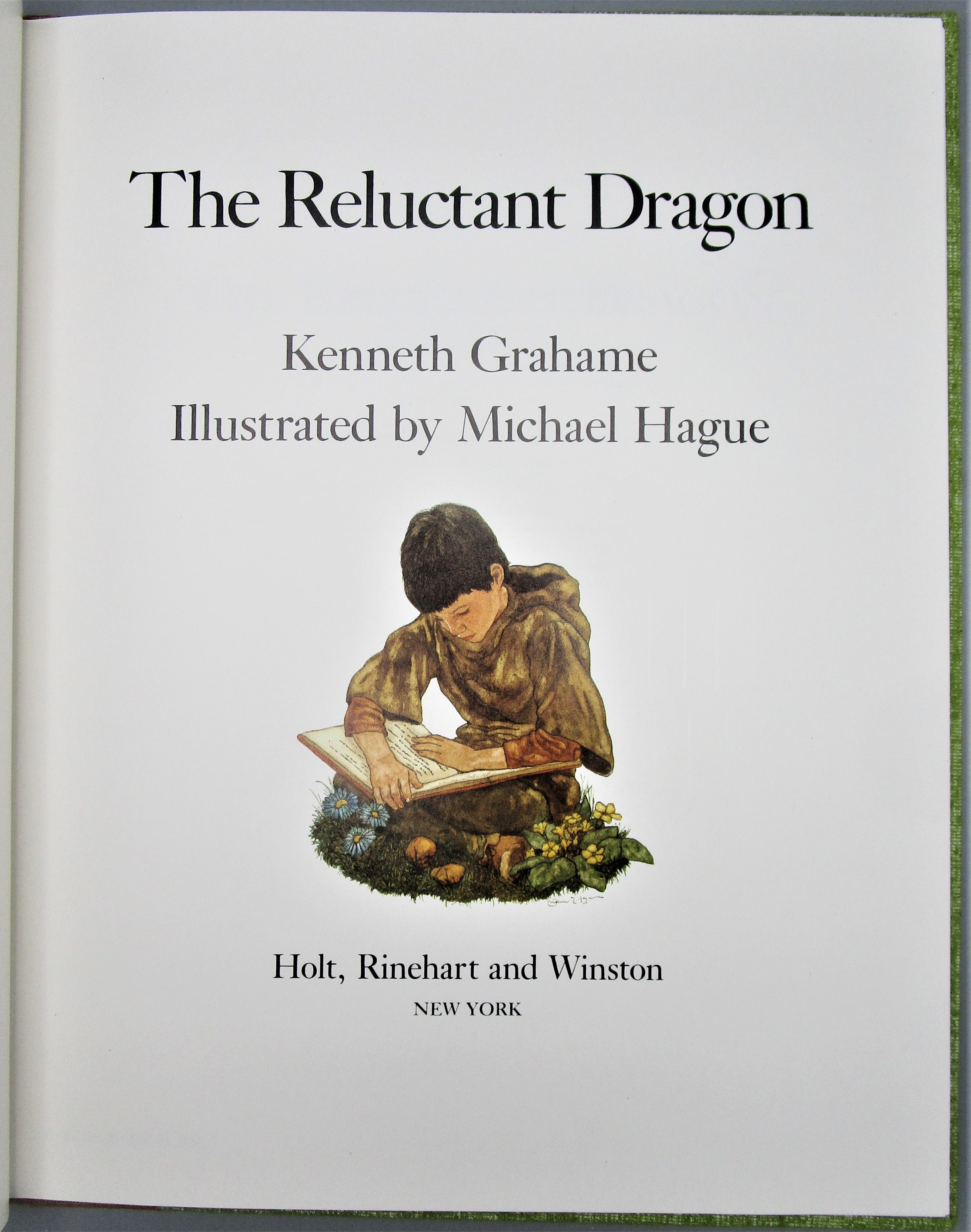 THE RELUCTANT DRAGON, by Kenneth Grahame; Michael Hague - 1983 [Signed Limited Ed]