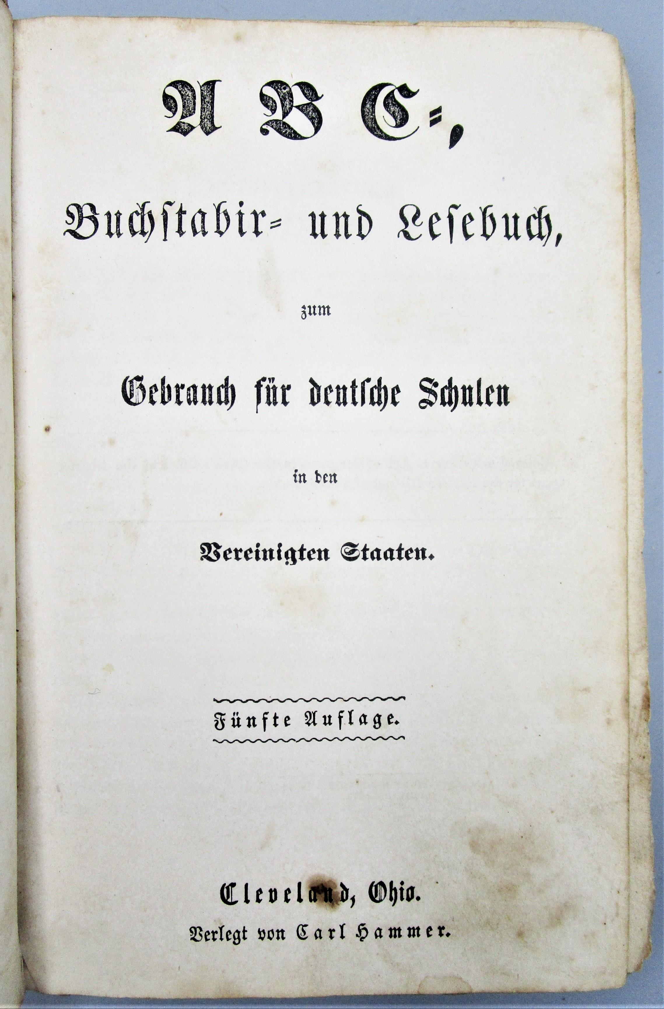 ABC, BUCHSTABIER UND LESEBUCH - 1860