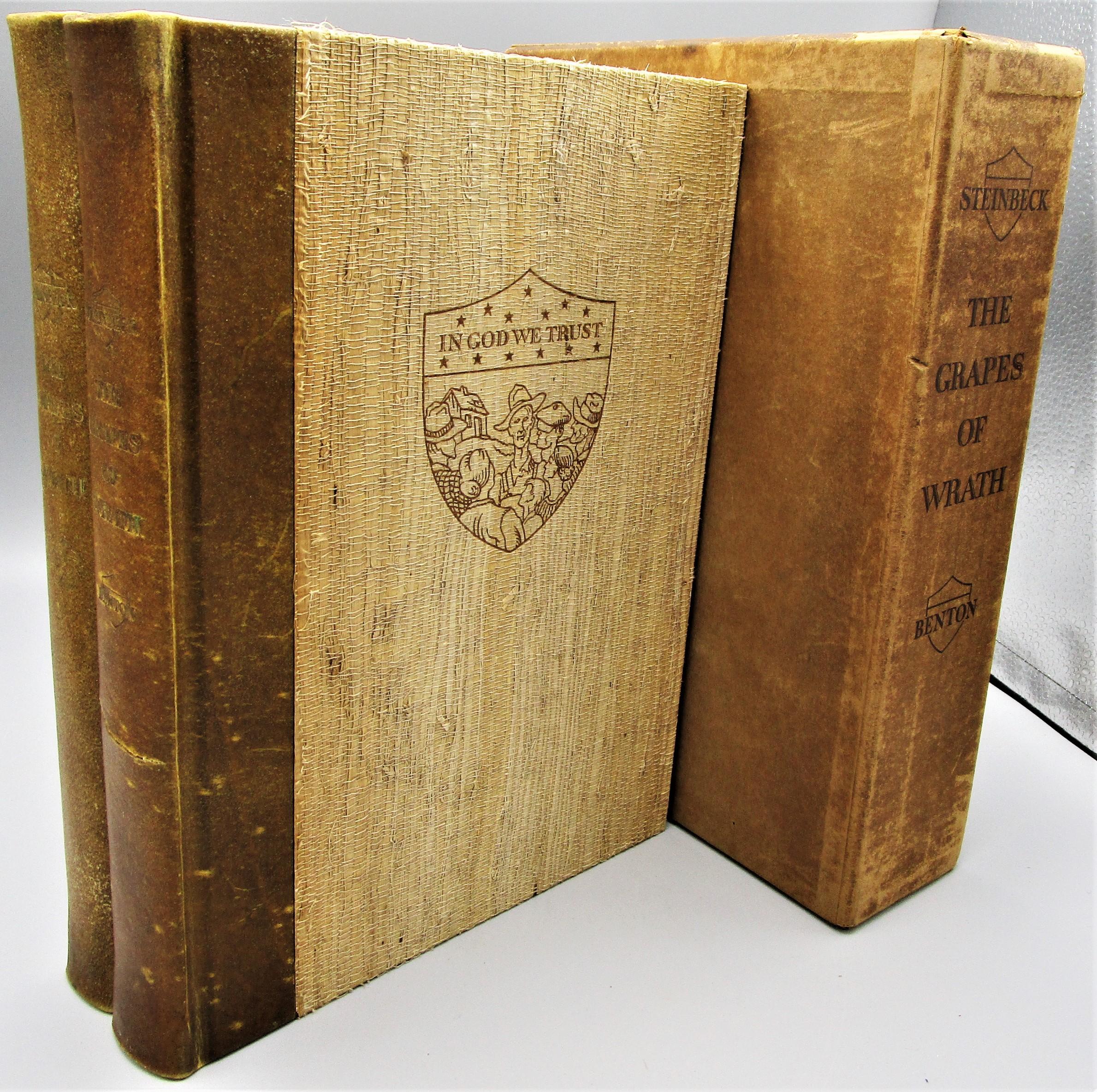 THE GRAPES OF WRATH, by John Steinbeck; Thomas Hart Benton (illus) - 1940 [2 Vols, Signed Ltd Ed]]