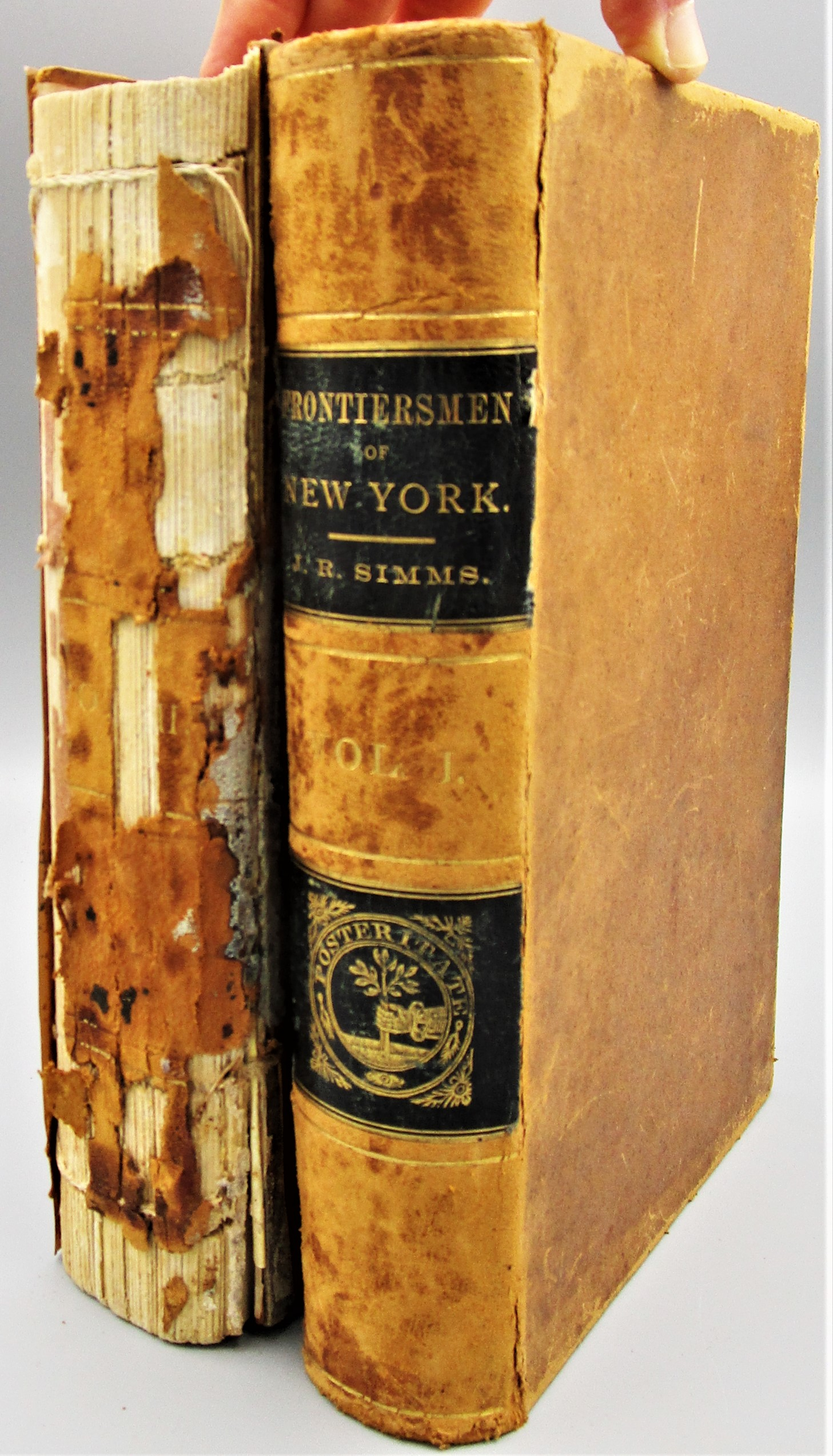 THE FRONTIERSMEN OF NEW YORK, by Jeptha R. Simms - 1882 [1st Ed, 2 Vols]