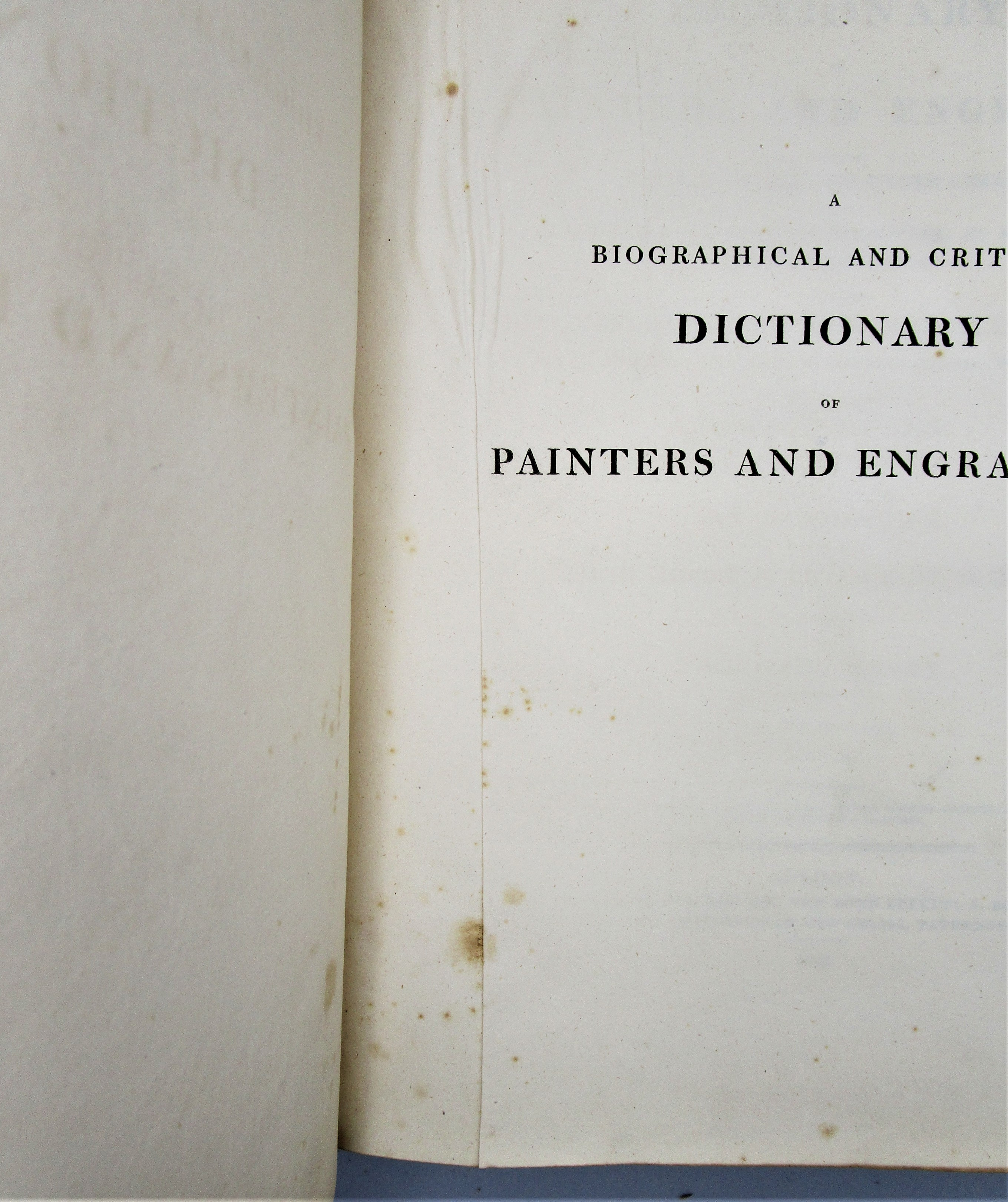 DICTIONARY OF PAINTERS & ENGRAVERS, by Michael Bryan - 1816 [2 Vols, 1st Ed]