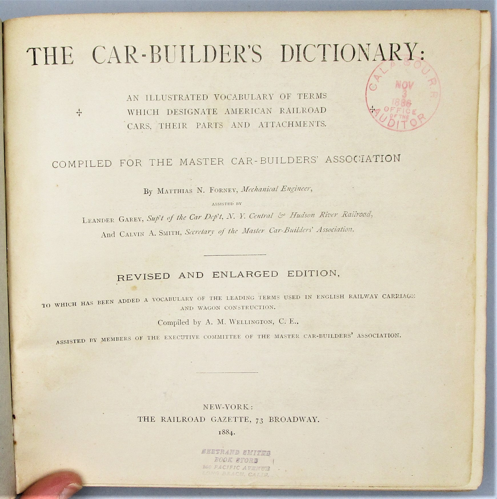 RAILROAD CAR-BUILDER'S DICTIONARY, by Matthias N. Forney - 1884
