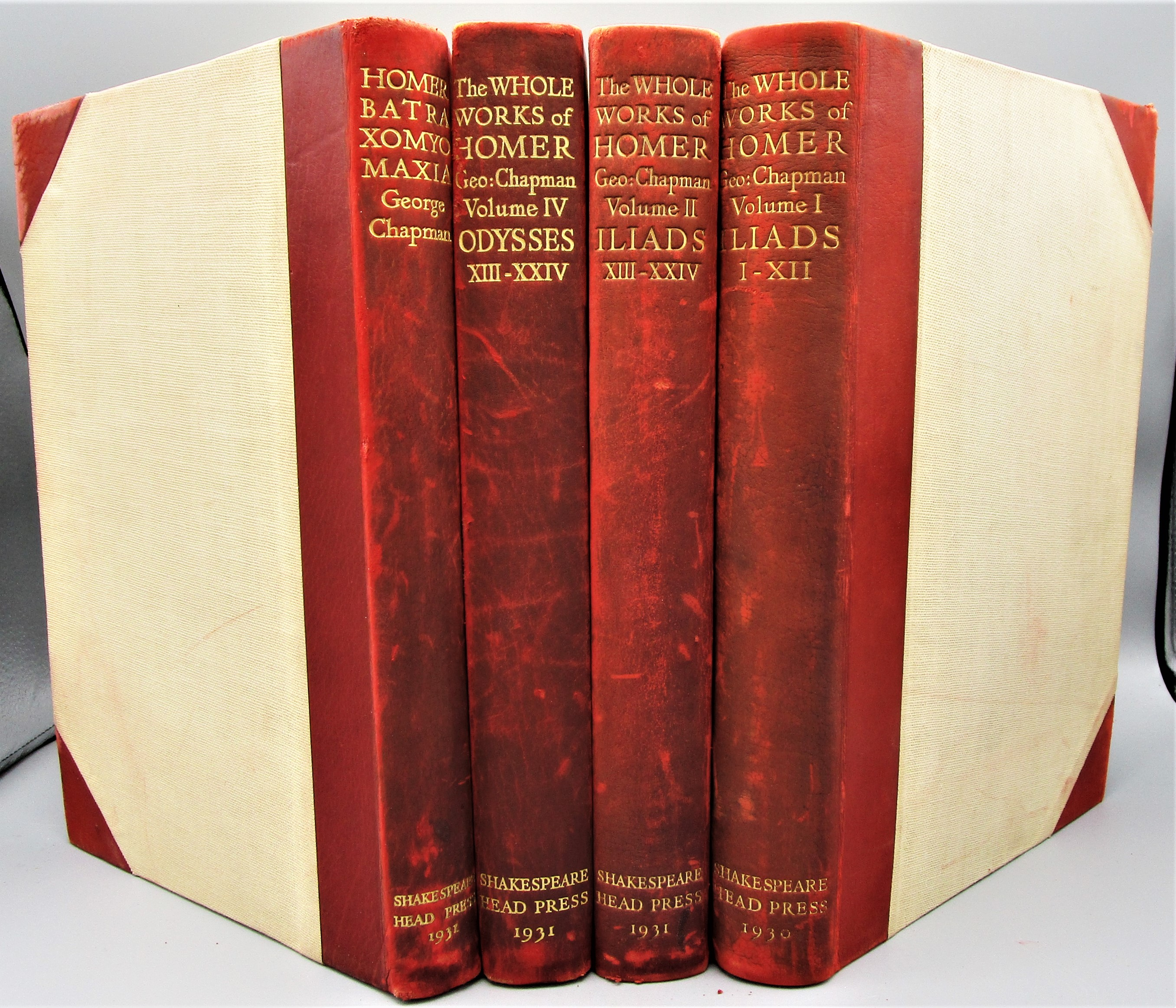 THE WHOLE WORKS OF HOMER - 1930 [4 Vols, Ltd Ed]