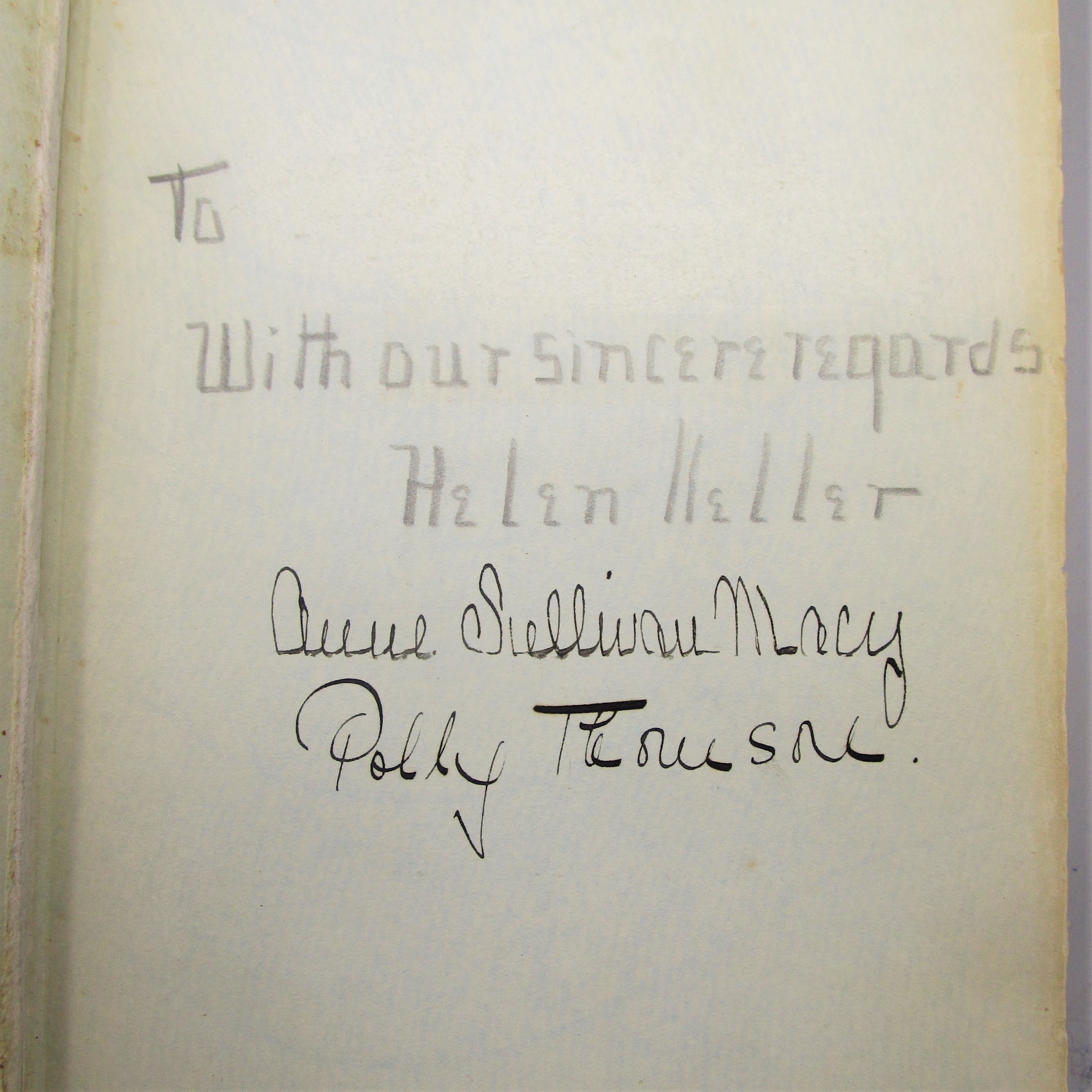 MIDSTREAM: MY LATER LIFE, by Helen Keller - 1929 [Signed x3]