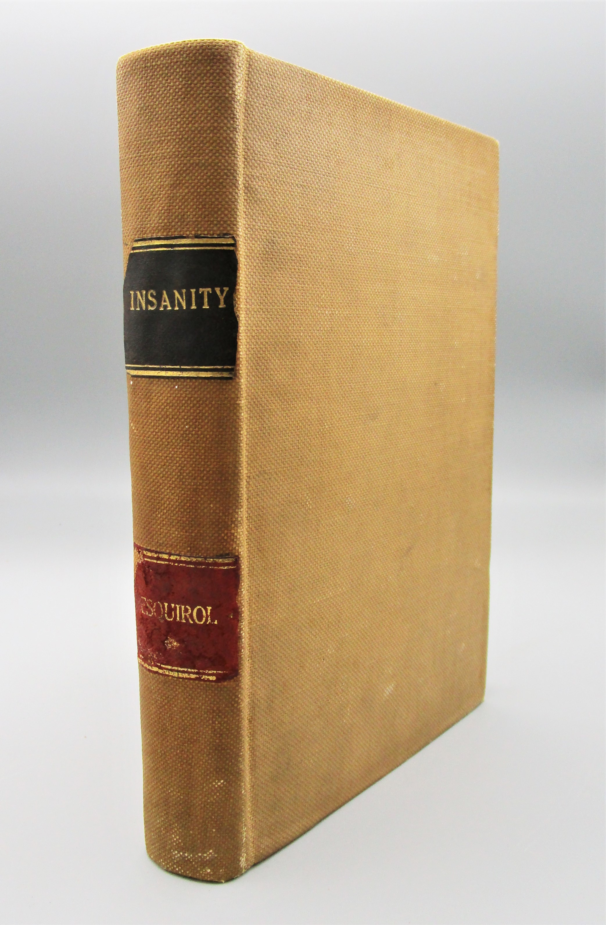 MENTAL MALADIES: TREATISE ON INSANITY, by E. Esquirol & E. K. Hunt - 1845 FIRST EDITION