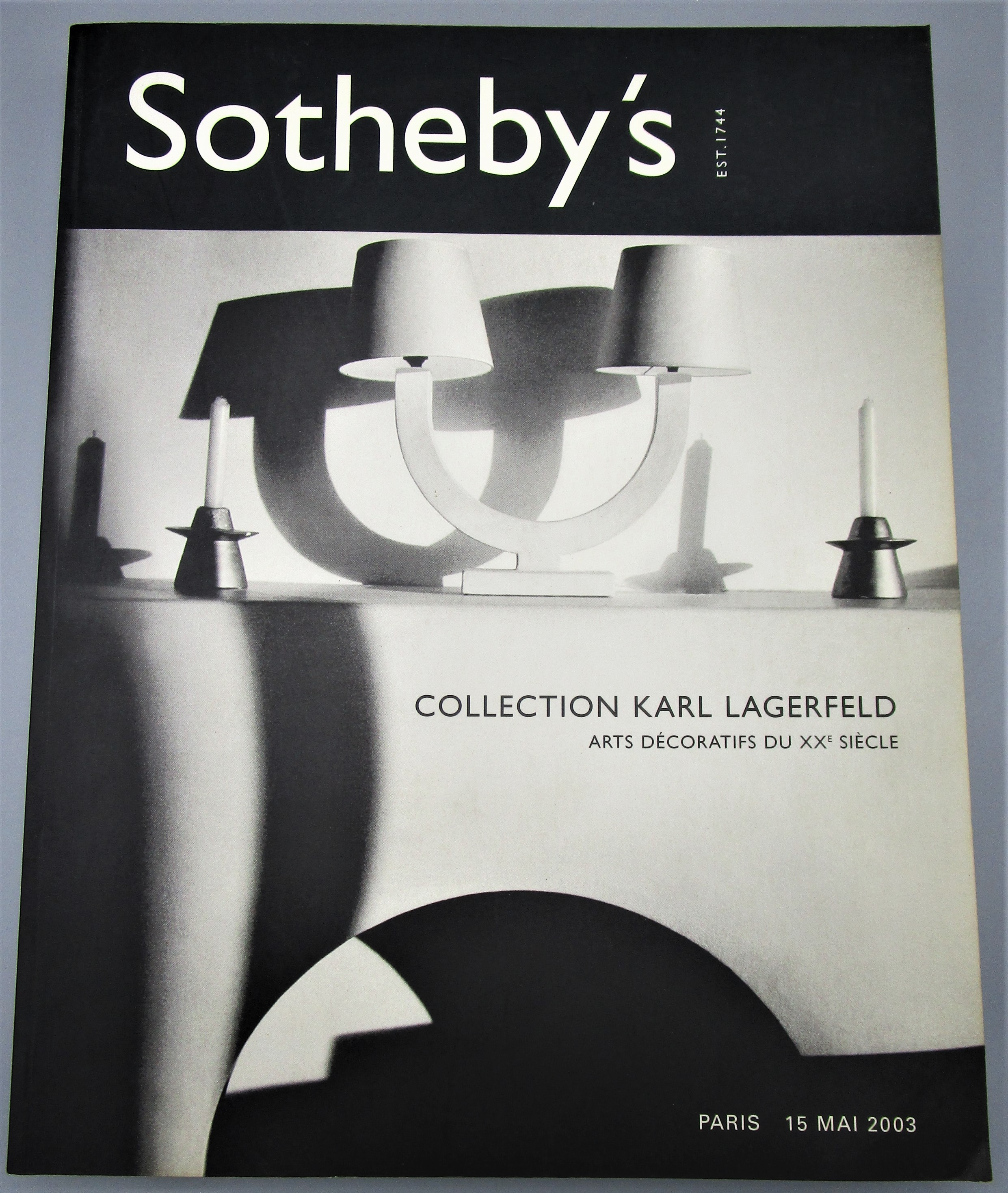 COLLECTION KARL LAGERFELD: ARTS DECORATIFS DU XXE SIECLE, by Sotheby's - 2003