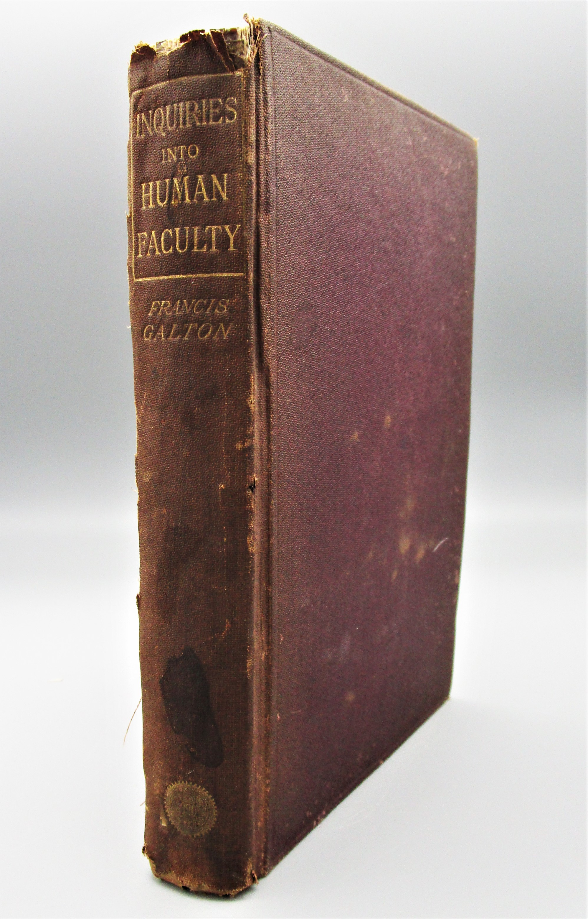 INQUIRIES INTO HUMAN FACULTY AND ITS DEVELOPMENT, by Francis Galton - 1883