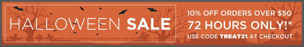 Halloween Sale - 10% off orders over $50 - SHOP NOW!
