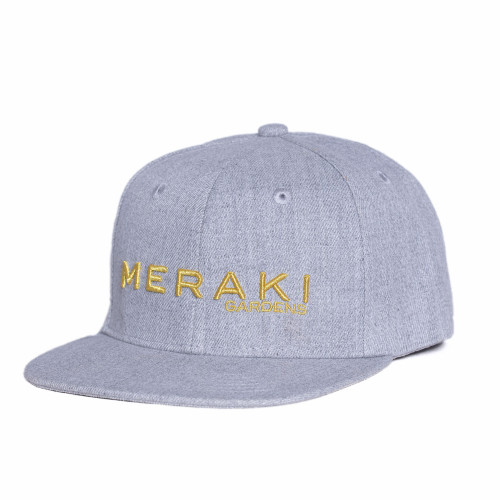 This Meraki Gardens grey hat has an urban attitude thanks to the iconic flat bill and old-school snapback closure.  Fabric: 100% cotton
