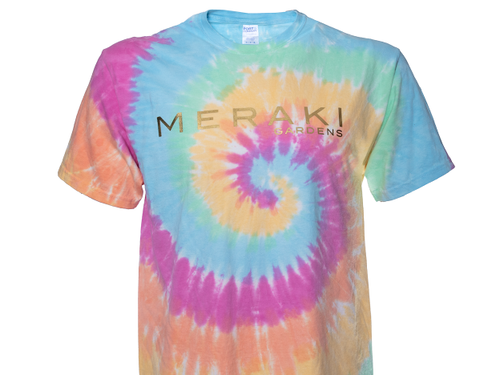 Meraki Gardens Short Sleeved Shirt in Tie-Dye