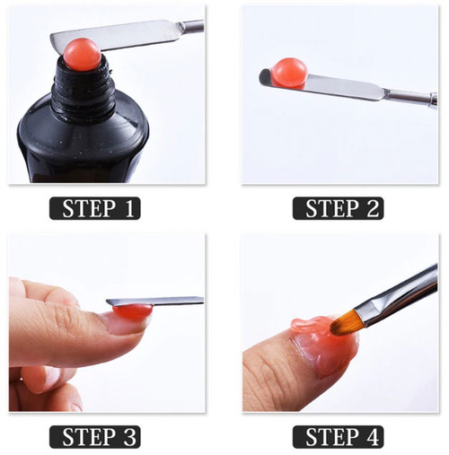 Poly Gel Nail Brush Dual-ended Head Stainless Steel