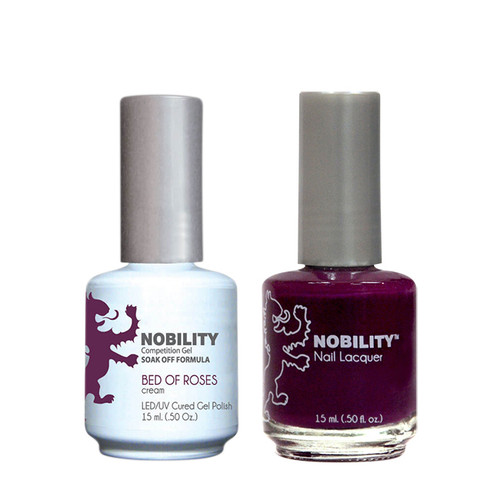 LeChat Nobility Gel Polish & Nail Lacquer Duo Set Bed of Roses - .5 oz / 15 ml