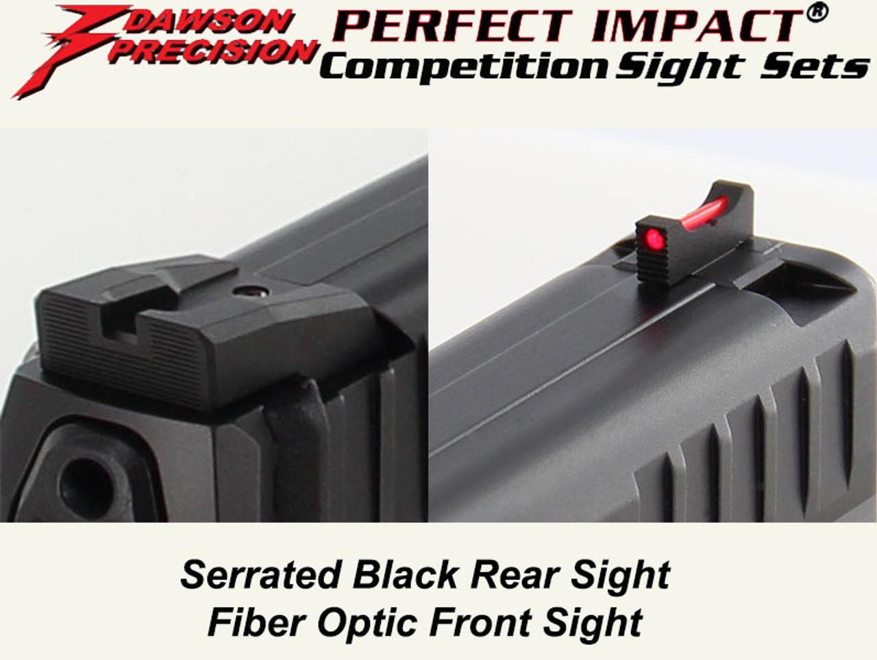 Dawson Precision HK VP9 Fixed Competition Sight Set - Black Rear & Fiber  Optic Front