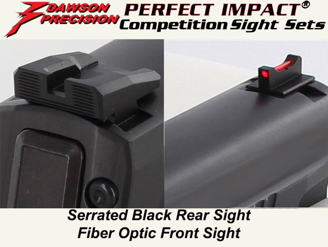 #1 Seller Dawson Precision Sig P320 Competition Fixed Sight Set - Black  Rear & Fiber Optic Front