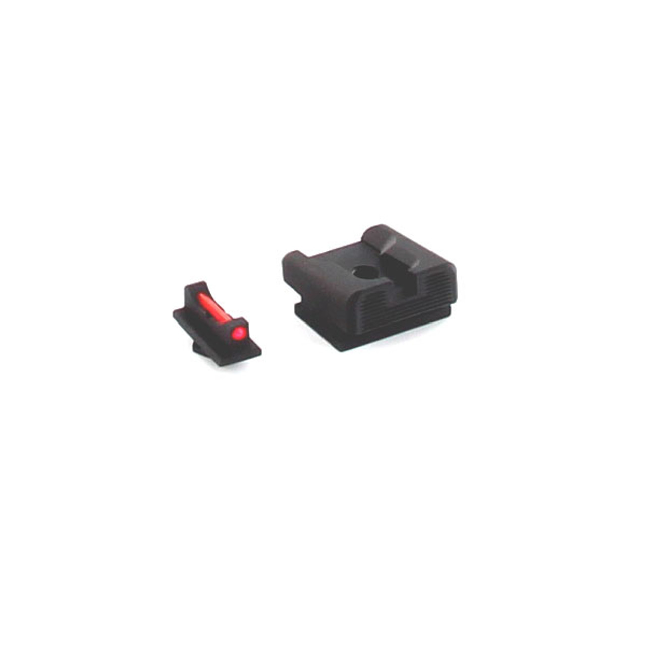 Dawson Precision Walther PPS/PPX/PPQ 45 Fixed Charger Sight Set - Black  Rear & Fiber Optic Front