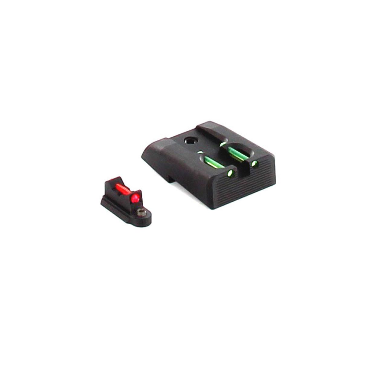 Dawson Precision CZ P10 C Carry Fixed Sight Set - Fiber Optic Rear & Fiber  Optic Front