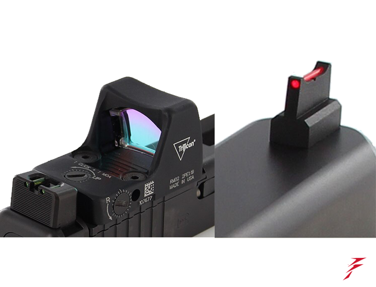 Dawson Precision Glock Gen5 G17/G19 MOS Fixed Co-Witness Sight Set (For  Delta Point Pro, Vortex Razor and similar red dot scopes)