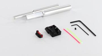 Dawson Precision CZ P-01 Carry Fixed Sight Set - Black Rear & Fiber Optic  Front