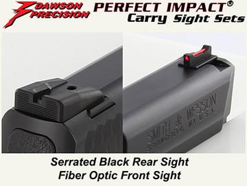 Taurus Perfect Match >> Dawson Precision S&W M&P Fixed Carry Sight Set Suppressor Height - Black Rear & Fiber Optic ...