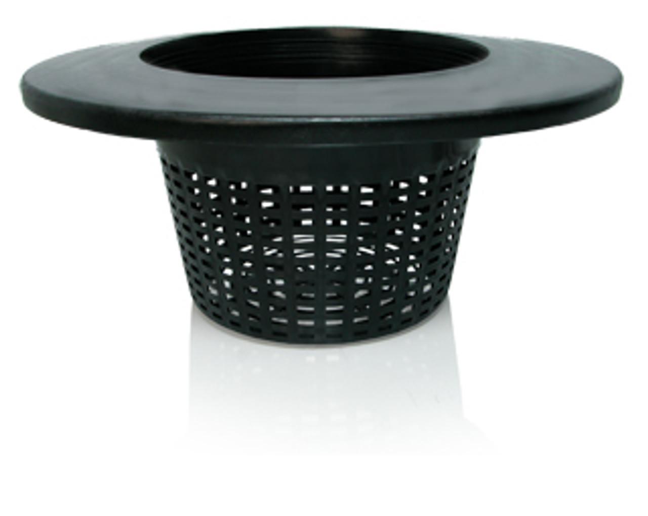 """Wide Lip Bucket Basket Mesh Lid 6"""" Pack of 5"""