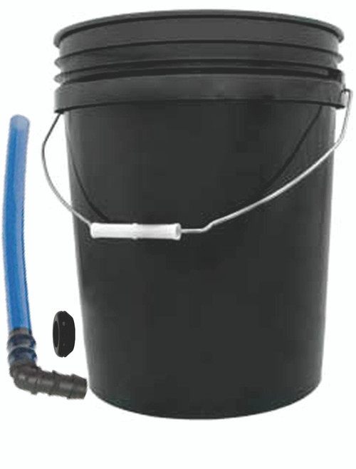Black Bucket w/ Installed Water Indicator