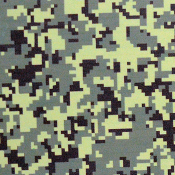 "Fashion Green Digital Camo 15"" x 12"""