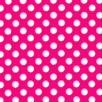 "Fashion Pink Polka Dots 15"" x 12"""