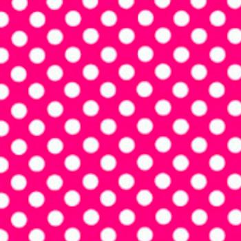 "Fashion Pink Polka Dots 15"" x 12"""