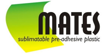 "MATES (sublimatable pre-applied adhesive plastic) - 8.5"" x 11"" SHEETS (10 Pack)"