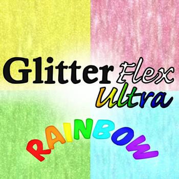 GlitterFlex Ultra Rainbow Sheets, Yards, & Rolls