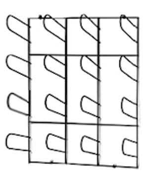Wall Mount Material Rack GAP-WR-1600
