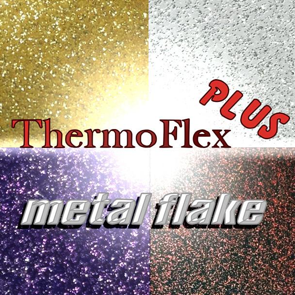 ThermoFlex Plus Metal Flake HTV Sheets, Yards, & Rolls
