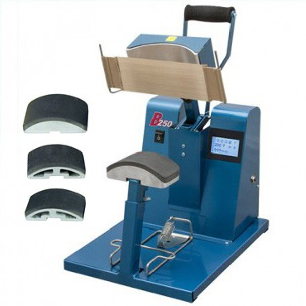 B-250 Cap Press with Golf, Ball, and Youth platens