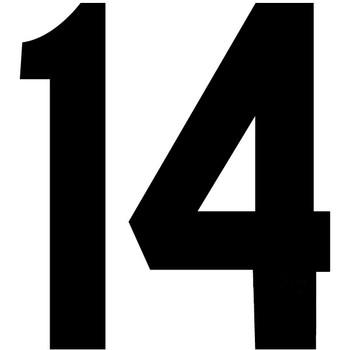 6 Quot Black Plastisol Numbers