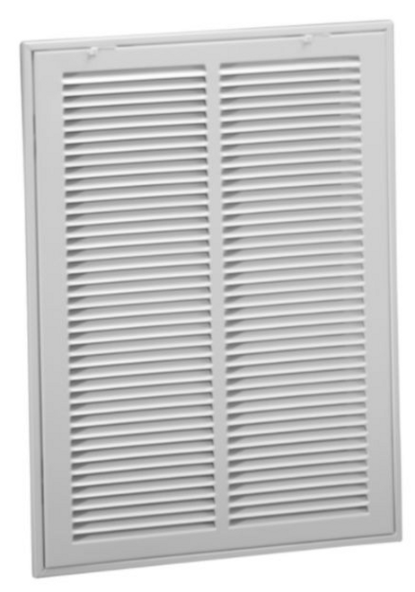 "Y9375 24 x 20"" Steel Return Air Filter Grille, 1/2"" Fin Spacing"