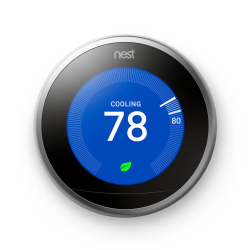 Y8234 - Nest T3008US, Learning Wi-Fi Programmable Thermostat, Stainless Steel