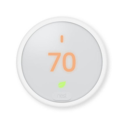 Y8895 - Nest T4001ES Wi-Fi Programmable Thermostat E, Frost Display, 2H/1C or 1H/2C