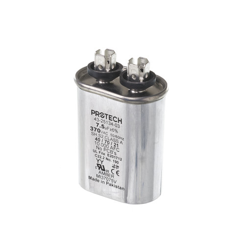 43-25134-03 - Capacitor - 7.5/370 Single Oval