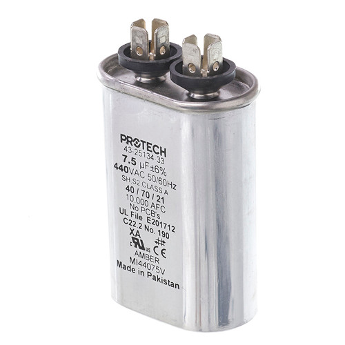 43-25134-33 - Capacitor - 7.5/440 Single Oval