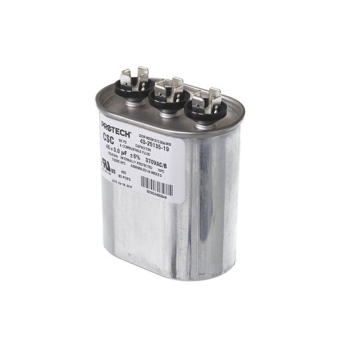 43-25135-19 - Capacitor - 40/3/370 Dual Oval