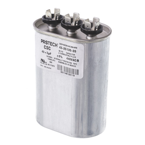 43-25135-20 - Capacitor - 40/3/440 Dual Oval