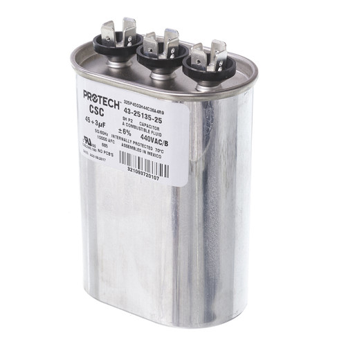 43-25135-25 - Capacitor - 45/3/440 Dual Oval