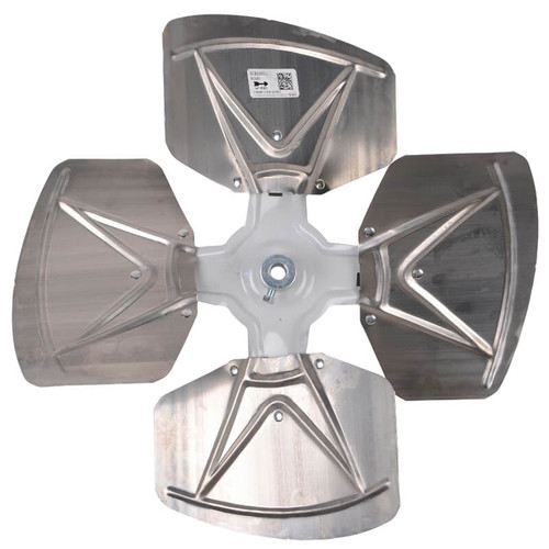 """95C59 - 4 Blade Fan Assembly 18"""" Diameter 1/2"""" Bore 30 DEGREE Pitch -CW"""