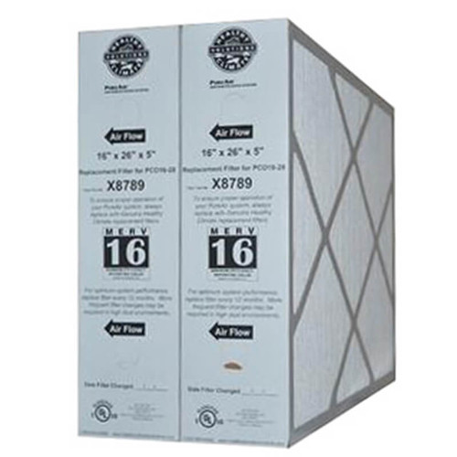 X8789 - 2 PACK- HEALTHY CLIMATE PUREAIR MERV16 Replacement Filter PCO16-28