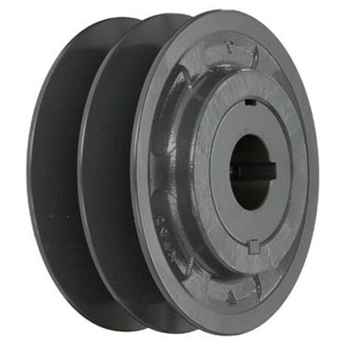 "97J56 2 Groove Adjustment Pulley 6-1/2"" X 1"