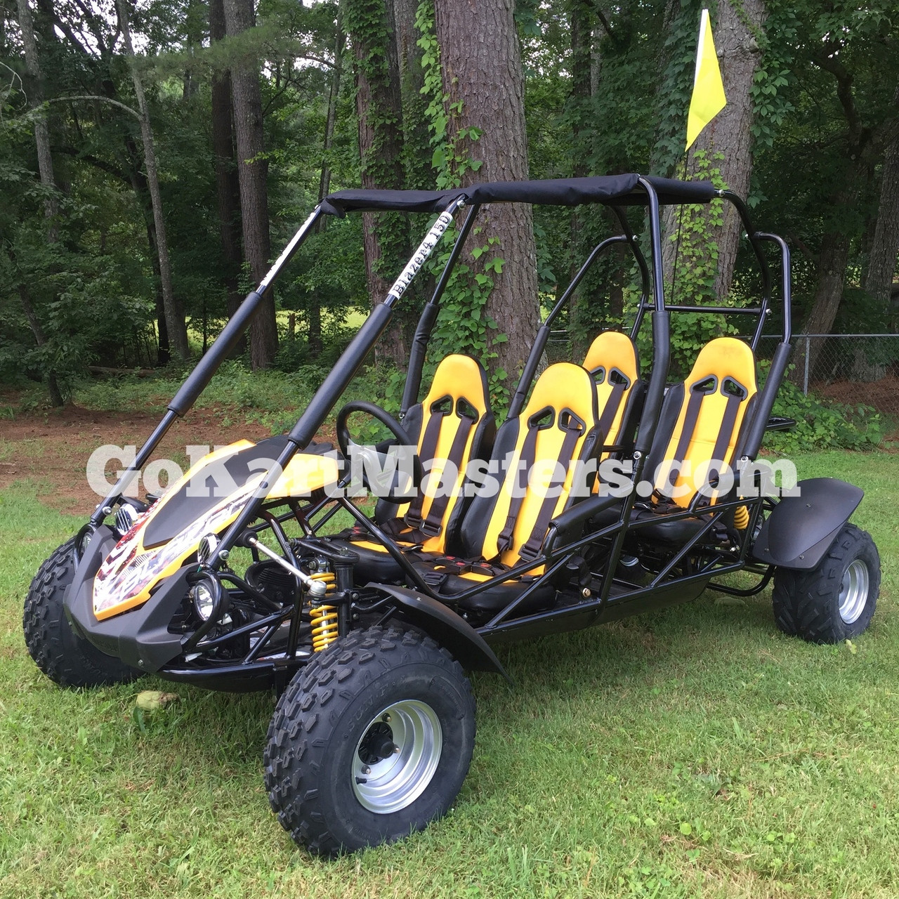 TrailMaster Blazer4 150 Go Kart - Yellow - 4 Seats