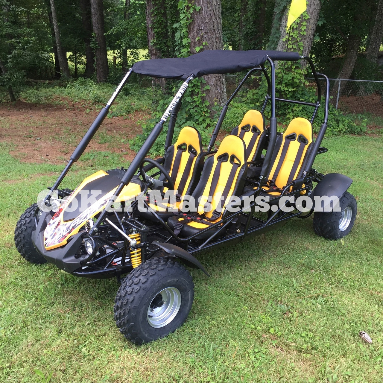 TrailMaster Blazer4 150 Go Kart - Yellow