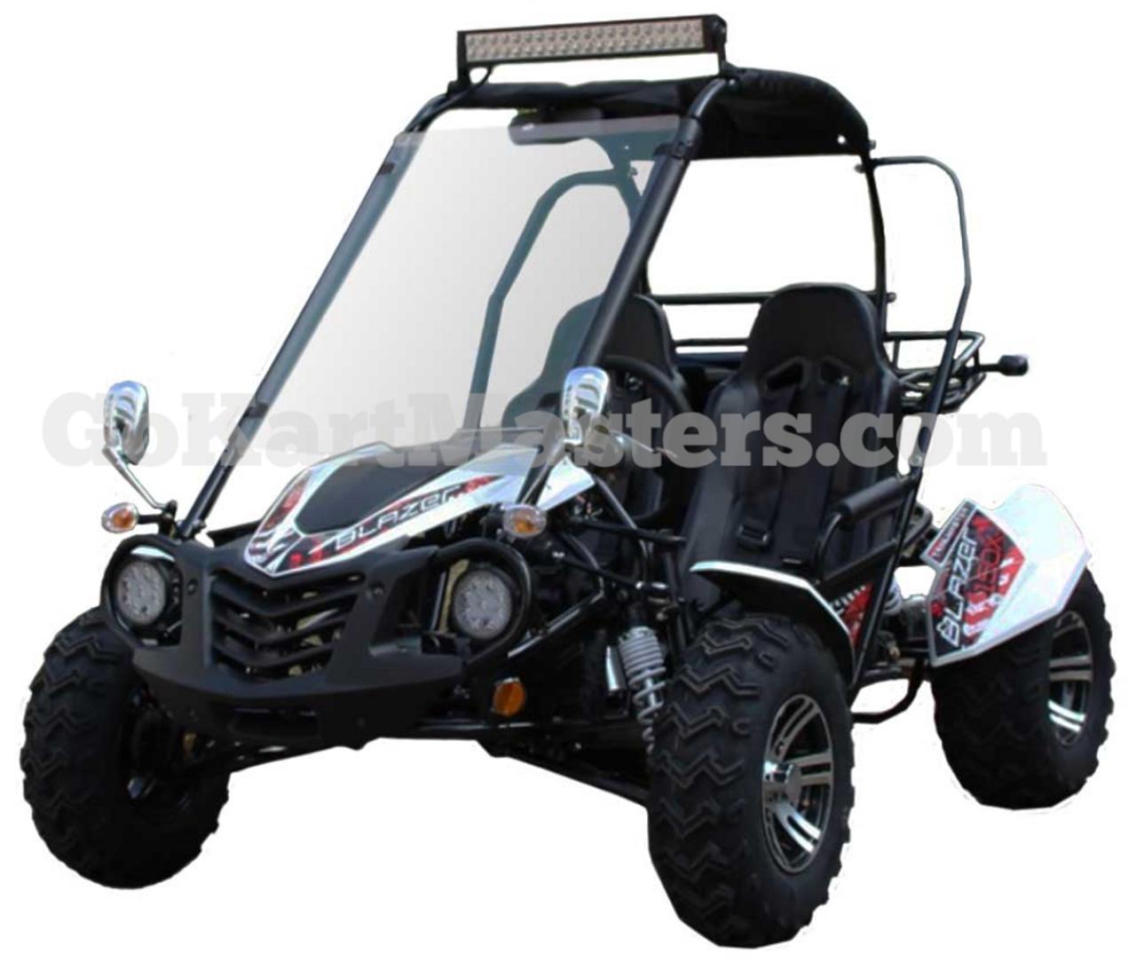 TrailMaster Blazer 150X Go Kart - Ships FREE!!! - White