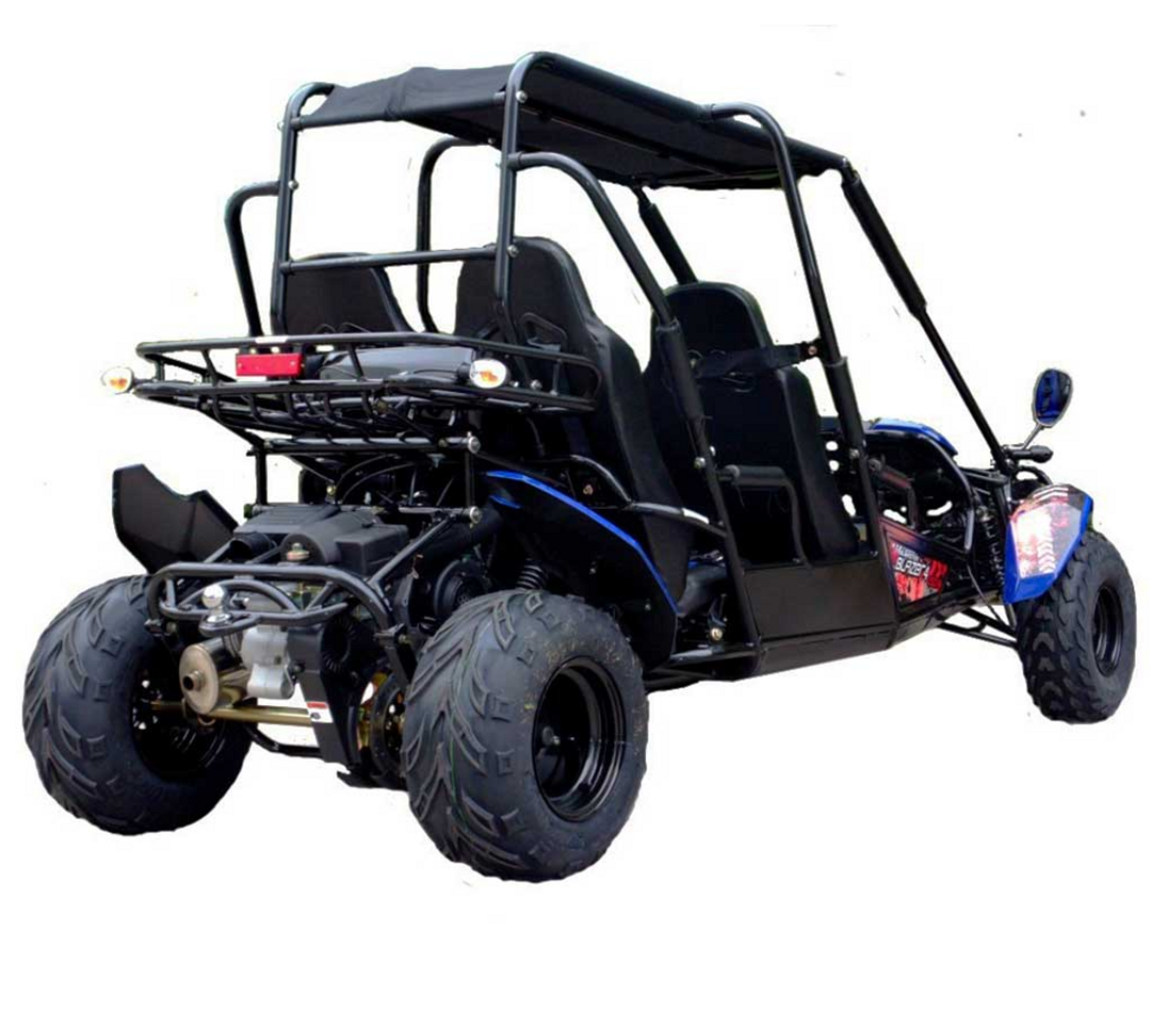 TrailMaster Blazer4 150X Go Kart - Rear View